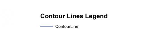 Contour Lines Legend